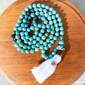 Jewelry - Turquoise Mala Bead Necklace with Tassel